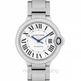 Ballon Bleu de Cartier 36 mm Automatic Silver Dial Stainless Steel Ladies Watch