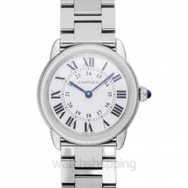 Ronde Solo de Cartier 29.5 mm Quartz Silver Dial Stainless Steel Ladies Watch