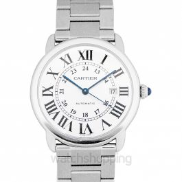 Ronde Solo de Cartier 42 mm Automatic Silver Dial Stainless Steel Men's Watch
