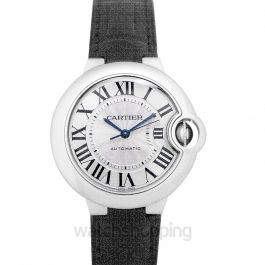 Ballon Bleu de Cartier 33 mm Automatic Silver Dial Stainless Steel Ladies Watch