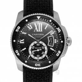 Calibre de Cartier Diver 42.00 mm Automatic Black Dial Stainless steel Men's Watch