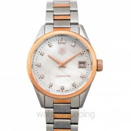 Carrera Quartz Mother Of Pearl Dial with Diamonds Ladies Watch