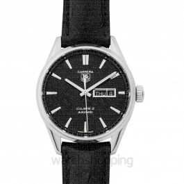 Carrera Calibre 5 Day-Date Automatic Black Dial Men's Watch