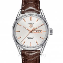 Carrera Automatic White Dial Men's Watch