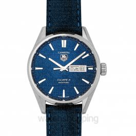 Carrera Calibre 5 Day-Date Automatic Blue Dial Men's Watch
