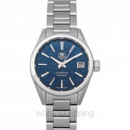 Carrera Calibre 9 Automatic Blue Dial Ladies Watch