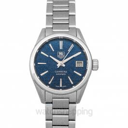 Carrera Calibre 9 Automatic Blue Dial Ladies Watch