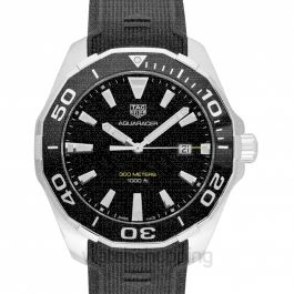 Aquaracer Quartz Black Dial Men's Watch