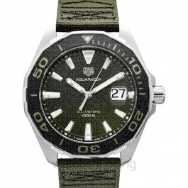 Aquaracer Quartz Green Dial Men's Watch