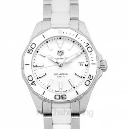 Aquaracer Quartz White Dial Ladies Watch