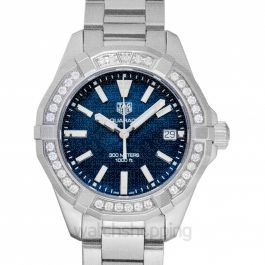 Aquaracer Quartz Blue Dial Ladies Watch