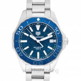 Aquaracer Quartz Blue Mother of Pearl Dial Ladies Watch