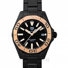 Aquaracer Quartz Black Dial Ladies Watch