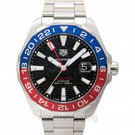 Aquaracer Calibre 7 GMT Automatic Black Dial Men's Watch