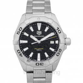 Aquaracer Quartz Black Dial Men's Watch