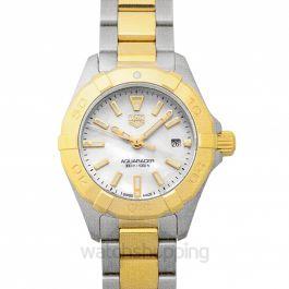 Aquaracer Quartz White Mother of Pearl Dial Ladies Watch