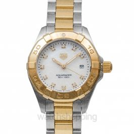 Aquaracer Quartz Mother Of Pearl Dial with Diamonds Ladies Watch