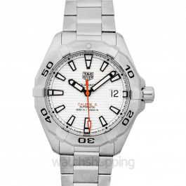 Aquaracer Calibre 5 Automatic White Dial Men's Watch