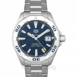 Aquaracer 3-hand Calibre 5 Automatic Blue Dial Men's Watch