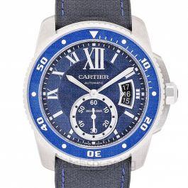 Calibre de Cartier 42.00 mm Automatic Blue Dial Stainless steel Men's Watch
