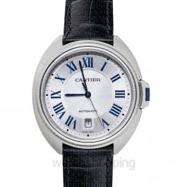 Clé de Cartier 40 mm Automatic Silver Dial Stainless Steel Men's Watch