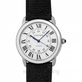 Ronde Solo de Cartier Watch Silver/Leather 36mm
