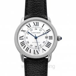 Ronde de Cartier 42 mm Automatic Silver Dial Stainless Steel Men's Watch