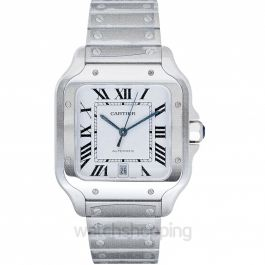 Santos de Cartier 39.8 mm x 47.5 mm Automatic Mother of pearl Dial Stainless Steel Men's Watch