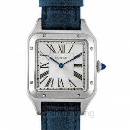 Santos-Dumont 43.5 mm Quartz Silver Dial Men's Watch