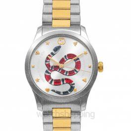 G-Timeless Quartz Silver Dial With Snake Motiif Men's Watch