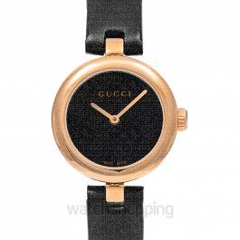 Diamantissima Quartz Black Dial Ladies Watch