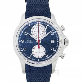 Portugieser Yacht Club Chronograph Automatic Blue Dial Men's Watch