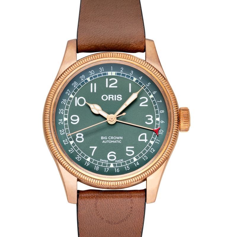 Oris Big Crown Big Crown Pointer Date 80th Anniversary Edition Automatic Green Dial Men's Watch 01 754 7741 3167-07 5 20 58BR