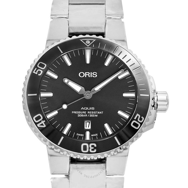 Oris Aquis Titanium Date Automatic Grey Dial Men's Watch 01 733 7730 7153-07 8 24 15PEB
