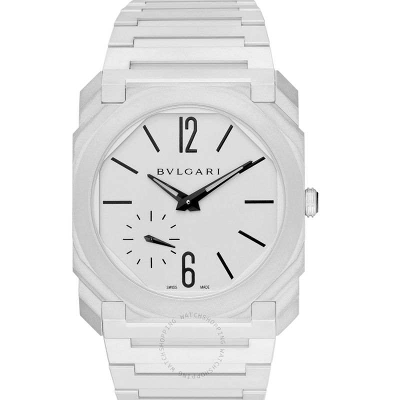 Bvlgari Octo Finissimo Automatic Silver Dial Platinum Microrotor Men's Watch 103011
