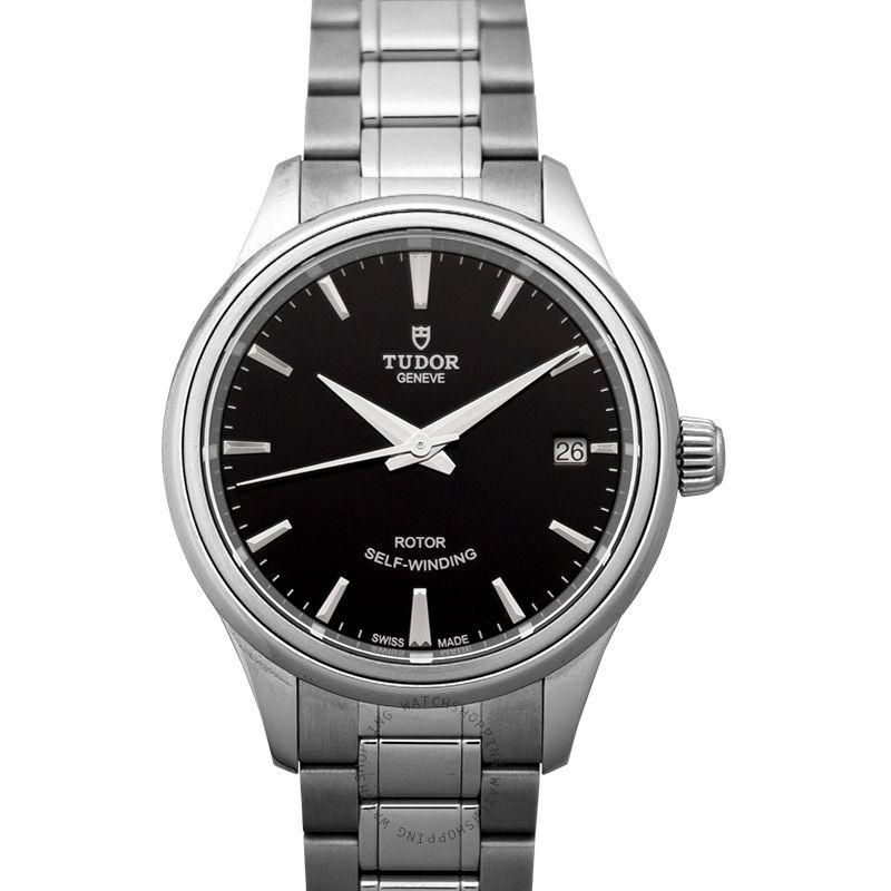 Tudor Style Swiss Steel Automatic Black Dial Ladies Watch 12300-0002