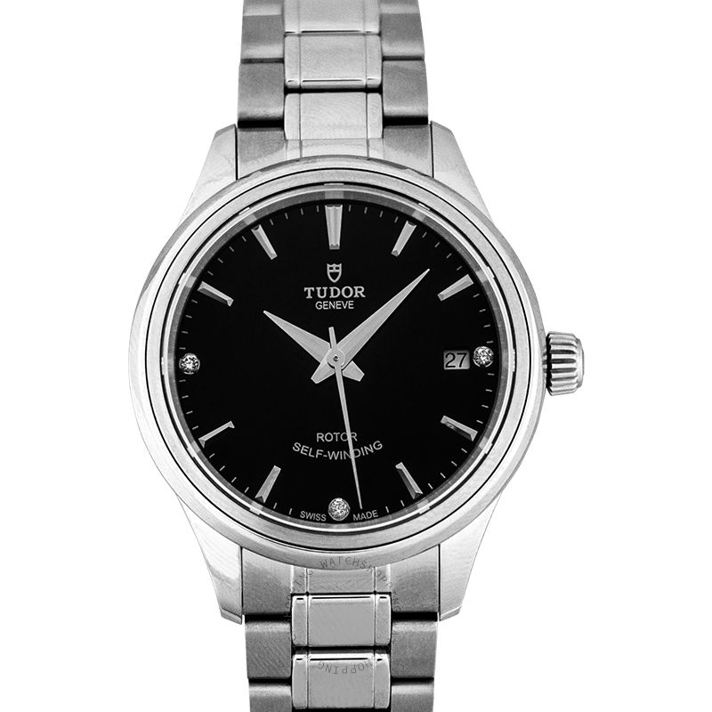 Tudor Style Swiss Automatic Black Dial Ladies Watch 12300-0004