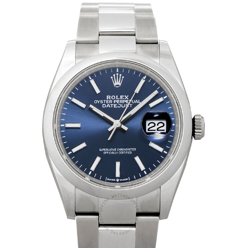 Rolex Datejust 36 Automatic Blue Dial Oystersteel Men's Watch 126200-0006