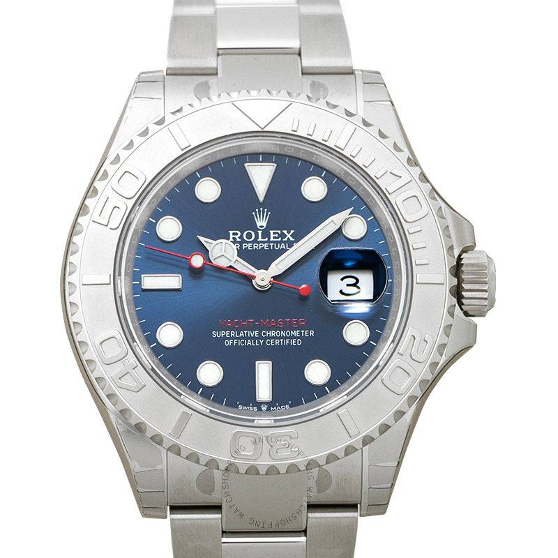 Rolex Yacht-Master 40 Automatic Blue Dial Oystersteel and Platinum Men's Watch 126622 blue
