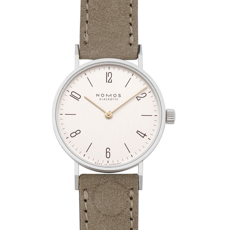 Nomos Glashütte Tangente 33 Duo Manual-winding White Dial 32.8mm Ladies Watch 127