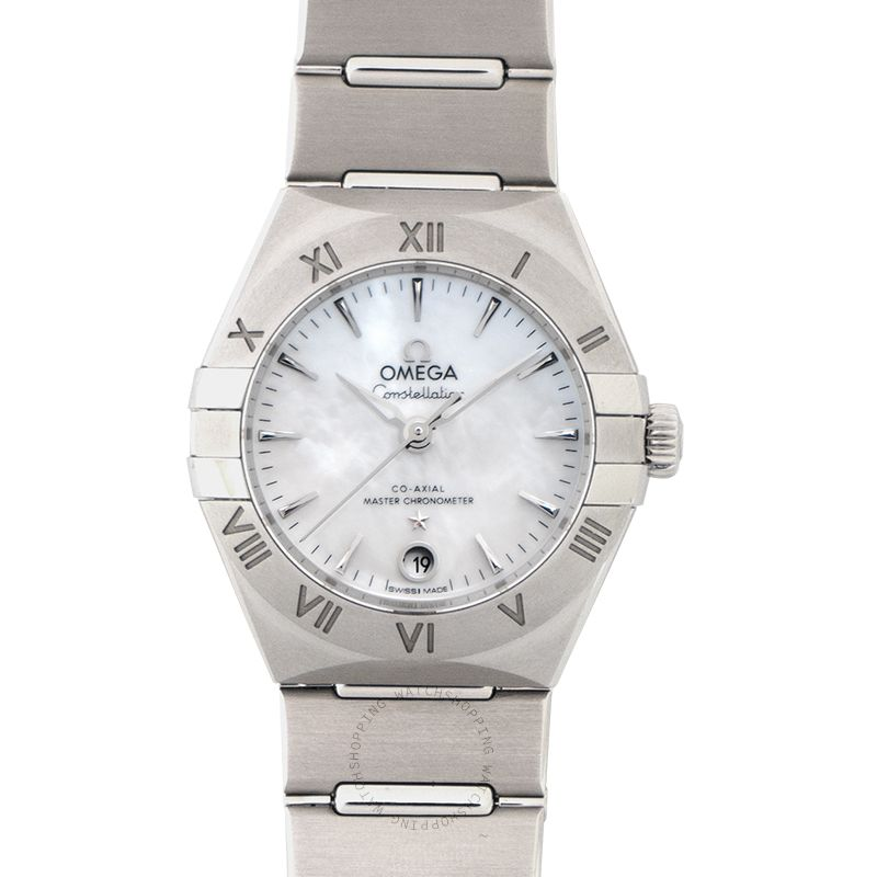 Omega Constellation Manhattan Co-Axial Master Chronometer 29 mm Automatic White Mother of Pearl Dial Steel Ladies Watch 131.10.29.20.05.001