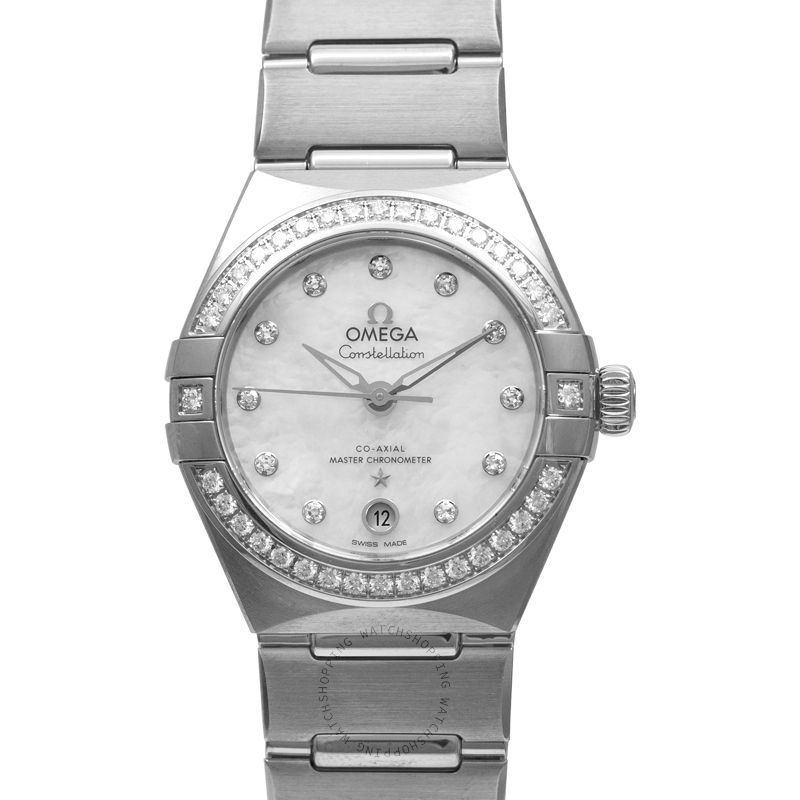 Omega Constellation Manhattan Co‑Axial Master Chronometer 29mm Automatic White Dial Diamonds Ladies Watch 131.15.29.20.55.001