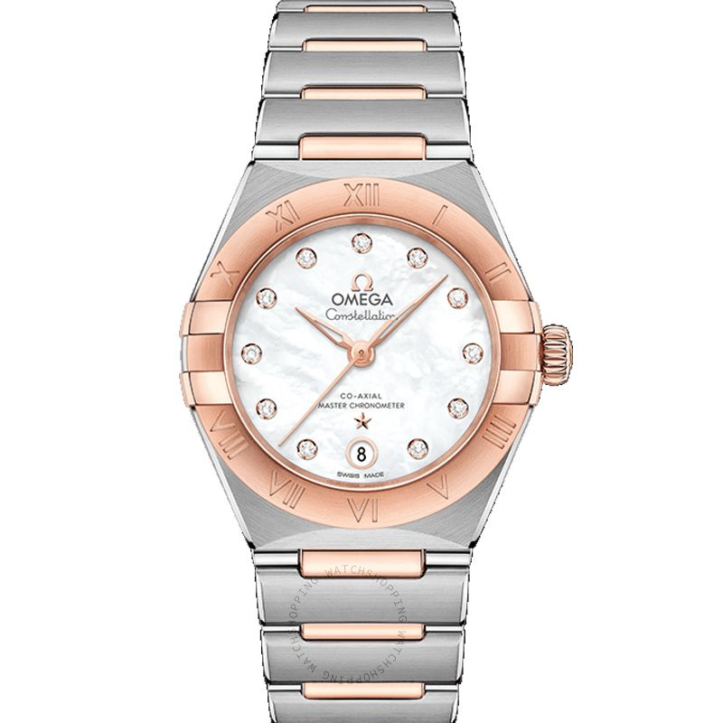 Omega Constellation Manhattan Co-Axial Master Chronometer 29mm Automatic White Dial Gold Ladies Watch 131.20.29.20.55.001