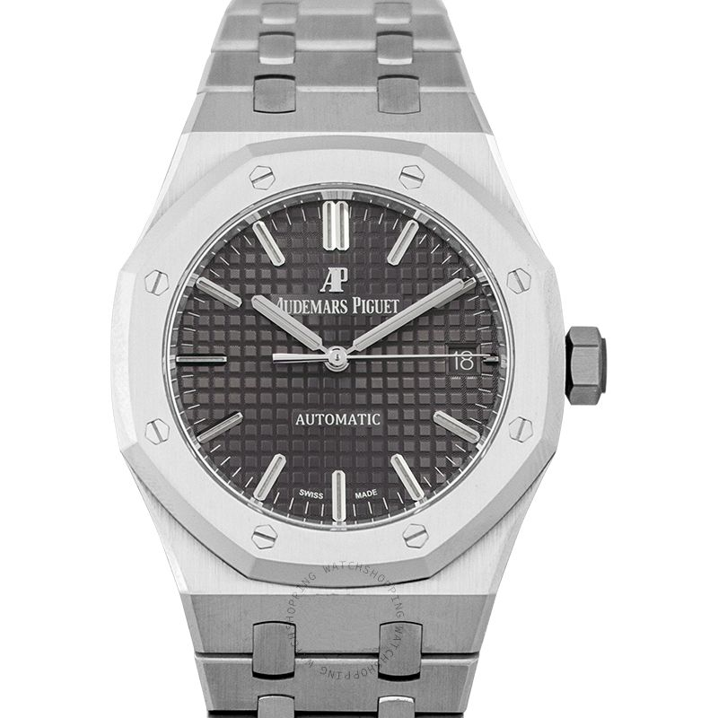 Audemars Piguet Royal Oak Automatic Grey Ruthenium Dial Ladies Watch 15450ST.OO.1256ST.02