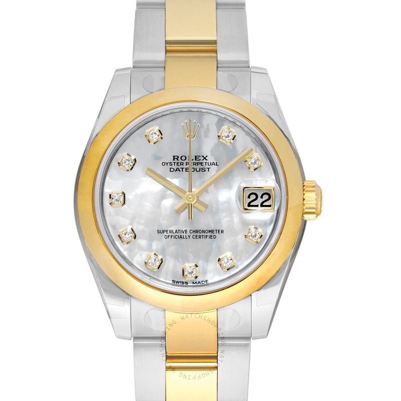 Rolex Datejust Lady 31 Steel And 18ct Yellow Gold Automatic Mother Of Pearl Dial Ladies Watch 178243-0001G