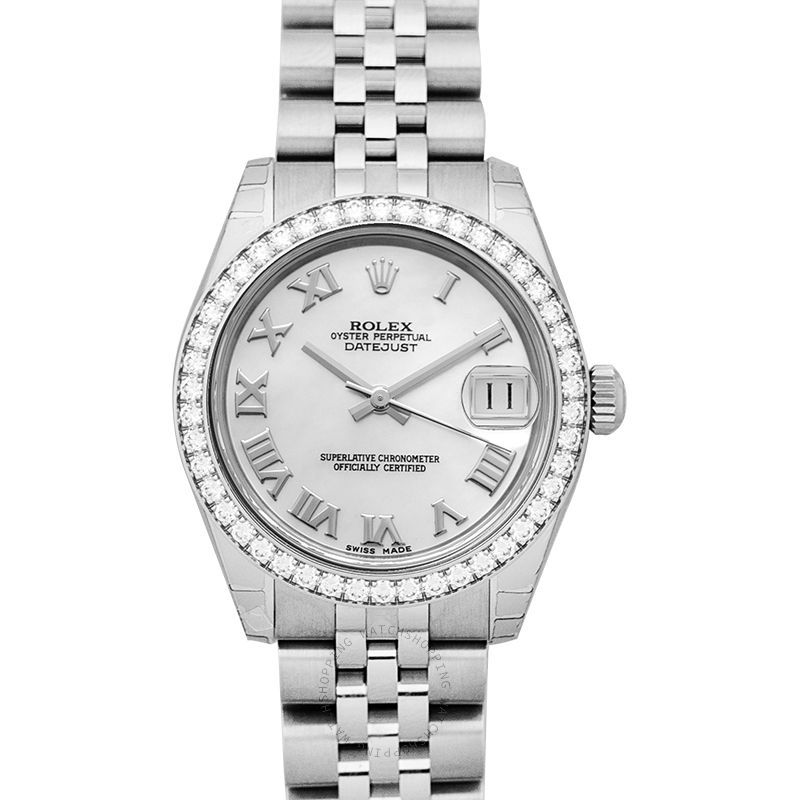 Rolex Datejust 31 Steel And 18ct White Gold Automatic Mother Of Pearl Dial Ladies Watch