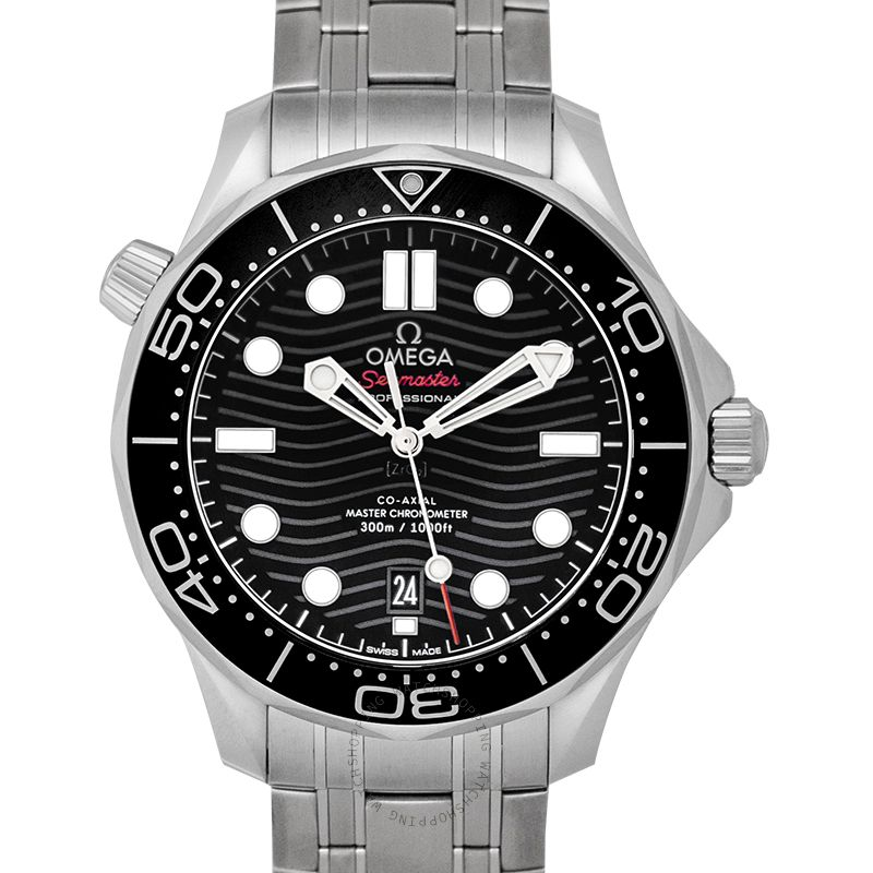Omega Seamaster Diver 300 M Co‑Axial Master Chronometer 42mm Automatic Black Dial Steel Men's Watch