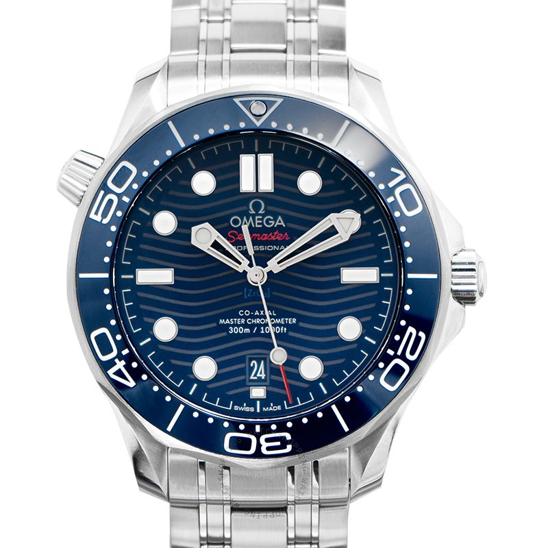 Omega Seamaster Diver 300 M Co-Axial Master Chronometer 42mm Automatic Black Dial Steel Men's Watch 210.30.42.20.03.001