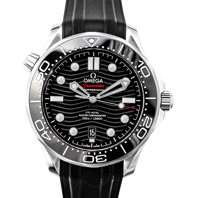 Omega Seamaster Diver 300 M Co‑Axial Master Chronometer 42mm Automatic Black Dial Stainless Steel Men's Watch