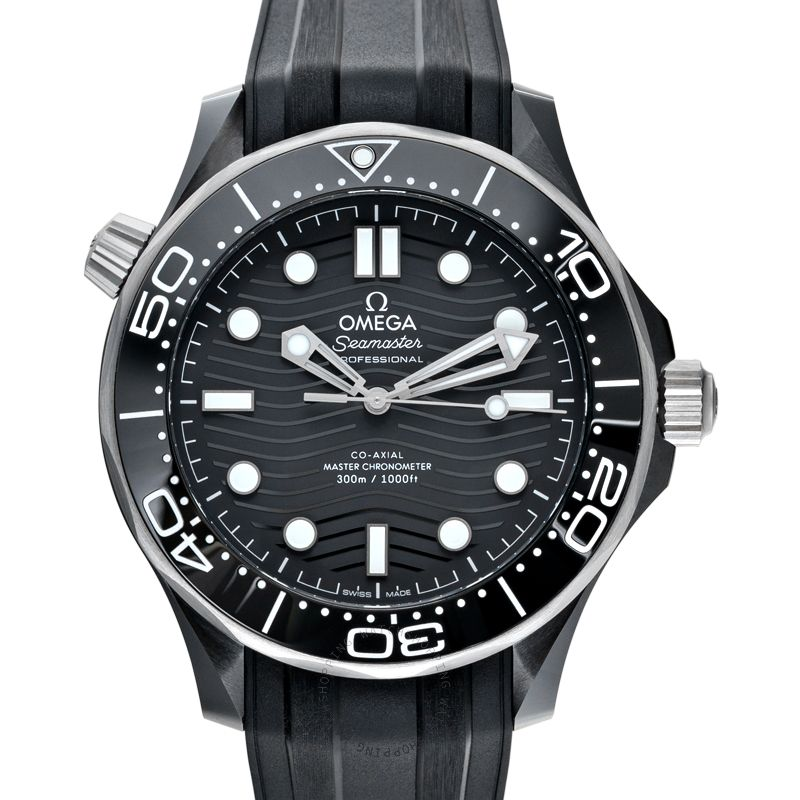 Omega Seamaster Diver 300 M Co‑Axial Master Chronometer 43.5mm Automatic Black Dial Ceramic Men's Watch